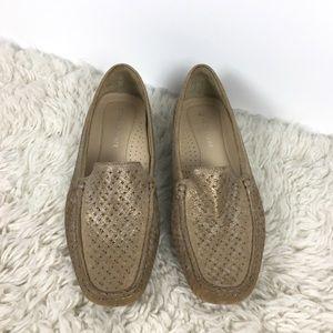 Donald Pliner lula leather loafer flat